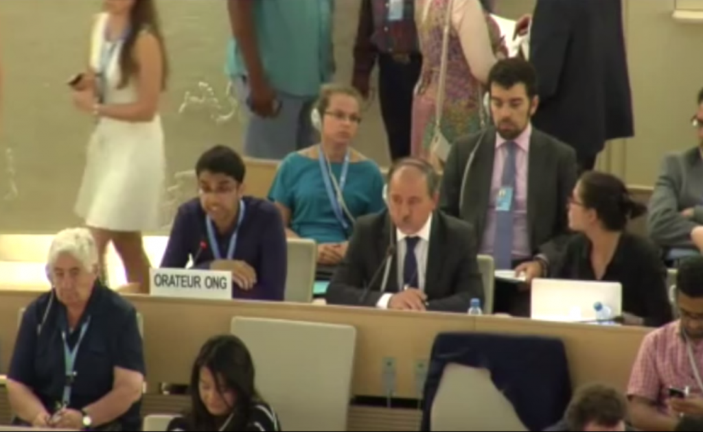Danish Sheikh delivers the statement on SOGIEI at HRC29