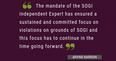 The Mandate of the SOGI IE: The compelling case for its renewal in 2019