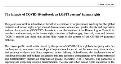 187 of organisations call on States to protect LGBTI persons' human rights in the context of COVID-19 outbreak