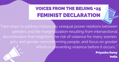 Feminist declaration on the occasion of the 25th anniversary of the Fourth World Conference on Women